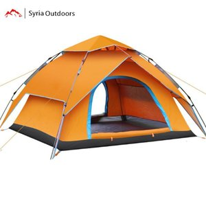3-4 people are free to build camping waterproof tent, double layer quick opening outdoor camping tent