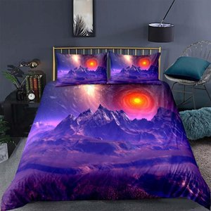 Sheets & Sets Galaxy 3d Bedding Set Out Space Print Comfortable Duvet Cover With Case 2 3pcs Home Textiles Twin Full Queen King Sheet