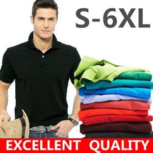 Estate 2021 Classico da uomo classico Slim Fit Polo Camicie Solid Color Coccodrillo Ricamo Business Bavero Cotton manica corta alta qualità