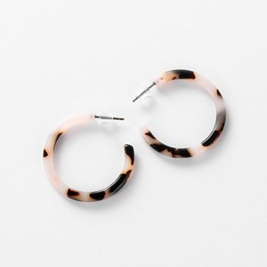 Trendy Leopard Earring Women Brincos Tortoiseshell Round C Stud Earrings For Korean Jewelry Wholesale