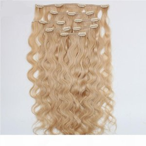 ELIBESS Hair Clip In Hair Extension 613 Color Deep Curly 7pcs 100g lot Top Quality European Virgin Remy Human Hair