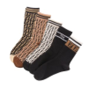 Wholesale Custom Leisure Fashion Ff Letters Parallel Bars Cotton Trend Ankle Tube Women's Socks