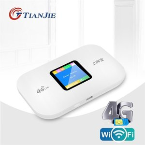 TIANJIE Unlocked 3G 4G LTE WiFi Modem Router Portable Pocket spot Wireless Mobile With Sim Card Slot 210918