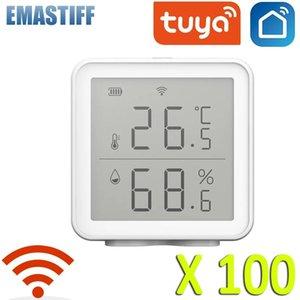 Smart Home Control 100PCS Tuya WIFI Temperature Humidity Sensor Wireless Digital Meter Indoor Thermometer Hygrometer Works
