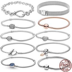 Bracelets Codemonkey authentique 100% 925 Bracelet de bracelet de chaîne de serpent classique pour femmes bijoux en argent sterling