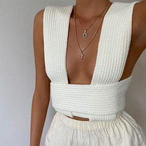 Womens Sweaters Cross Coarse Vest Weave Base Woolen Sleeveless Women Fashion Pullover Sweater Winter Tank Top