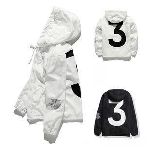 Top Sale High quality Mens KANYE WEST Jacket Hip Hop Windbreaker fashion designer jackets Men Women Streetwear Outerwear Coat