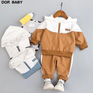 Costume pour hommes, sweat à capuche pour bébé, fermeture à glissière pour enfants âgés de 1, 2, 3 et 4 ensembles de vêtements