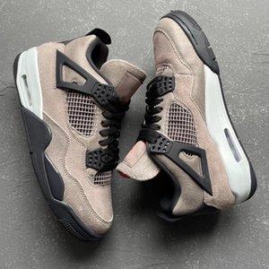 com caixa taupe haze 4s mens basquete shoes DB0732-200 preto branco infravermelho 23 óleo cinza 4 homens treinador esporte sapatilhas 40-47