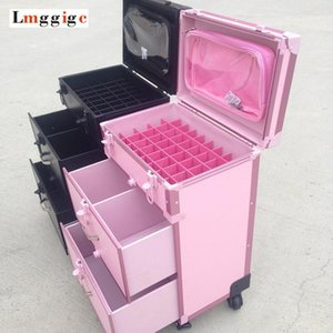 Aluminum Frame+PVC Dresser Cosmetic Case,Makeup Tool Suitcase Box ,Rolling Make-up Trolley Luggage Bag1