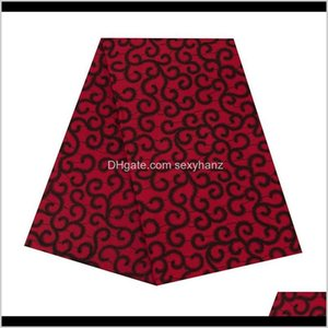 Clothing Apparel Drop Delivery 2021 Polyester Prints Ankara Binta Real Wax High Quali Ty 6 Yards African Fabric For Party Dresstop Material 6