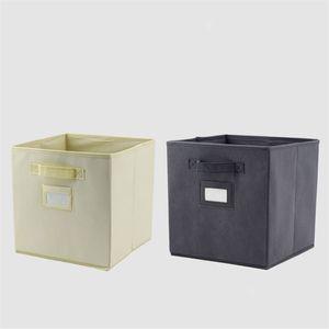 Cotton Linen Box for Home Office Organizer Folding Storage Bin Children Adult Storage Box Wardrobe Clothes Kids Toy Basket