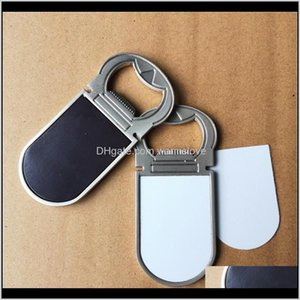 Décor Home & Garden Drop Delivery 2021 Arrival Sublimation Blank Big Style Magnets With Bottle Opener Transfer Printing Fridge Magnet Consuma