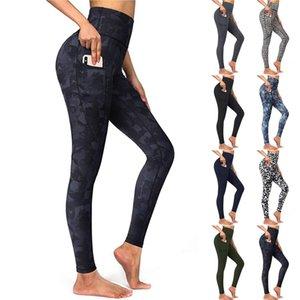 Nova Lulu Novas Calças de Lazer Multi Cor Solta Yoga Terno Perneiras Calças de Ioga Cintura alta