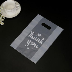 Thank You Plastic Gift Wrap Bag Cloth Storage with Handle Party Wedding Candy Cake Wrapping Bags EEB6130