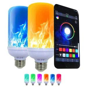 Bluetooth APP control multi-color waterproof light bulbs flame effect