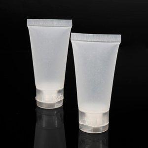 Liplasting 100 PCS Tubo vacío suave Transparente 15ml Maquillaje Cosmética Crema Loción Contenedores de viaje Caso Facial Contenedor Almacenamiento Botellas J