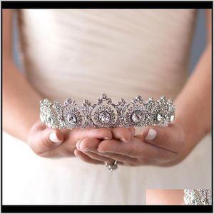 Western Style Bridal Crown Headband Gorgeous Crystal Bride Headpiece Accessories Wedding Tiaras Hair Jewelry Party Gift Fvd1Q I8Prz