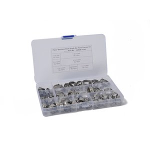 Fuel Systems Fittings Combination 70PCS set stepless clamp stainless steel 304 single ear 7 specifications