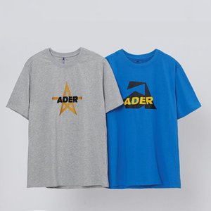 error21 spring and summer yellow five pointed Ader star sticker letter pattern short sleeve men's and women's T-shirts simple and versatile