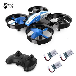 Holy Stone Mini Drone For Kids One Key Land 3D Flip Auto Hovering RC Helicopter Mini Small Drones With 3 Batteries For Children 210325