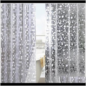 Cushion Cover Plastic Pvc 3D Waterproof Shower Transparent White Clear Bathroom Anti Mildew Translucent Bath Curtain With 12 P Wmtide Ytq3K