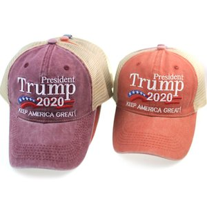 Donald Trump 2024 Baseball Cap Patchwork Washed Outdoor Keep America First Hat Outdoor Sports Embroidered Trump Mesh Hats CYZ3070