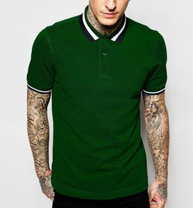 fit top quality years experience slim global customers mens polo collar striped t shirt in green