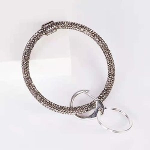 style key chain fashion trend silica gel rhinestone bracelet pendant fitness exercise hand ornaments, save your travel space
