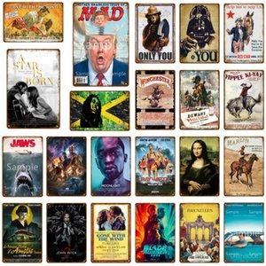 Челюсти кино металлический знак металлический плакат классический кинотеатр железо