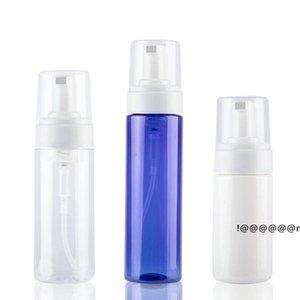 100ml Clear Blue Foaming Bottle Liquid Soap Whipped Mousse Points Bottling Shampoo Lotion Shower Gel Foam Pump EWF6266