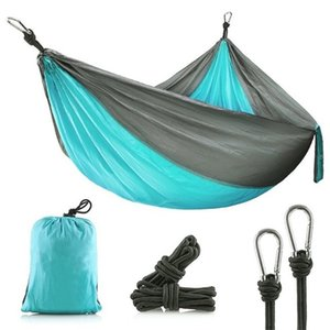 Hitorhike 1-2 Person Outdoor Mosquito Net Parachute Hammock Camping Hanging Sleeping Bed Swing Portable Double Chair Hammock 653 Z2