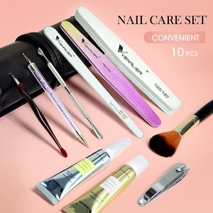 PerfectionsVenalisa Nail Tool Set Nail Files Nail Clipper Steel Push Salon Cuticle Oil Softener Dust Brush Diamond Sticker Drill Pen