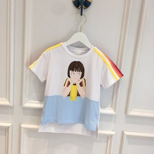 Fashion Kids Boys Girls T-shirt Summer baby Tees Cute Children Cotton Short Sleeves Cartoon Clothing Tops