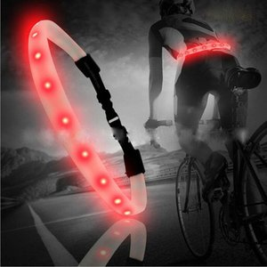 Cycling Safety Light Belt Night Riding Color Reflective LED Flashing Back Bike Taillight Bicycle Turn Signal Lights