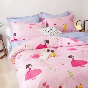 White Bunny Rabbit Pink Duvet Cover Set Cotton Bedlinens Twin Queen King Flat Sheet Fitted Sheet Bedding one 250 S2