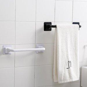 Towel Racks Self-adhesive Holder Rack Wall Mounted Hanger Bathroom Organizer Shelf Hook Kitchen Wipe Hanging