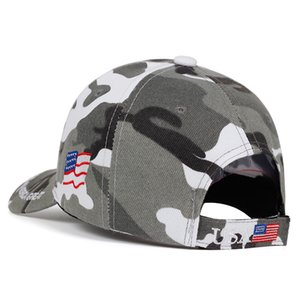 Donald Trump 2020 Cap Camouflage USA Flag Baseball Caps Keep America Great camo Hat 3D Embroidery Star Letter Camo Army high quality hotsell
