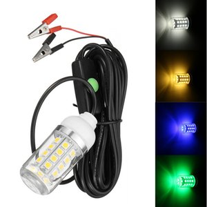 Waterproof 12V 36 LED Light Bulb Underwater Submersible Night Fishing Light Shad Bait Lure Squid Boat Lamp with 5m IP67 Lamp