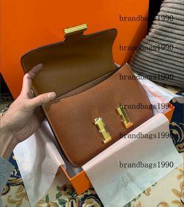 19cm 24cm High Quality cowskin Espom Genuine leather Fashion Bag Women Purse Shoulder bags Lady Handbag Factory Wholesale 2021