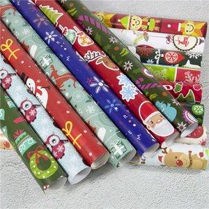 패션 컬러 생일 휴가 파티 선물 종이 크리스마스 장식 DIY 만화 산타 눈사람 사슴 패턴