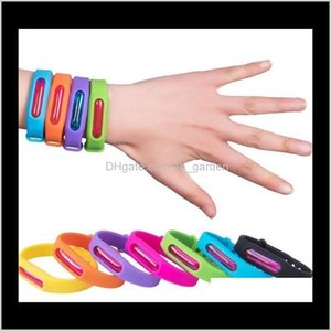 Pest Control Household Sundries Home Garden Drop Delivery 2021 Anti Ring Waterproof Candy Jelly Color Mosquito Repellent Bracelets Kids Sile
