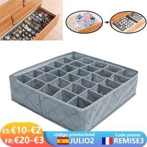Dormitory Closet Organizer For Underwear Socks Home Cabinet Divider Storage Box Scarf Bra Storage Foldable Drawer Organizer Box