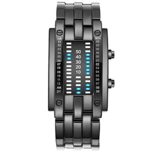 Wristwatches XSVO Korean Version Of The Trend LED Dual-Line Binary Fashion Student Couple Personality Electronic Watch For Men And Women