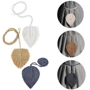 Curtain & Drapes 2Pcs Leaf Shaped Tieback Tie Rope Backs Holdbacks Buckle Clips Decorative Rods Accessoires Hook Holder Home Decorations