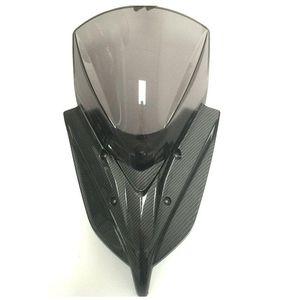 Motocicleta modificada NMAX155 Cura clara pára-brisa pára-brisas de vento da tela de vento com painel de ângulo de chifres para nmax 2021-2021