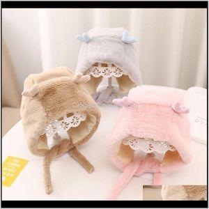 Caps Aessories Baby, & Maternity Drop Delivery 2021 Cute Elk Baby Winter Hat Boy Girl Soft Cotton Fur Plush Born Ear Warm Hats Beanie Kids Ch