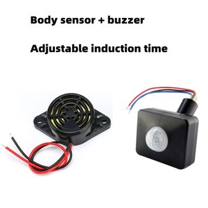 Dc3v-24v buzzer human body induction buzzer sound induction buzzer alarm LED switch