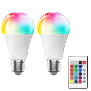 E27 LED 16 Color Changing RGB rgbw Light Bulb Lamp 85-265V RGB Led Light Spotlight + IR Remote Control In Stock