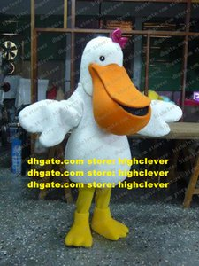 White Pelican Bird Mascot Costume Adult Cartoon Character Outfit Suit Festival Celebration Fashion Planning zx1598